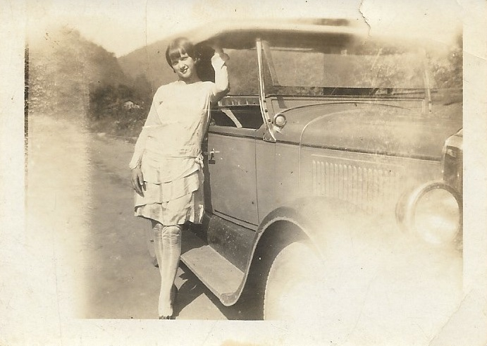 Glenna_with_Car_1928